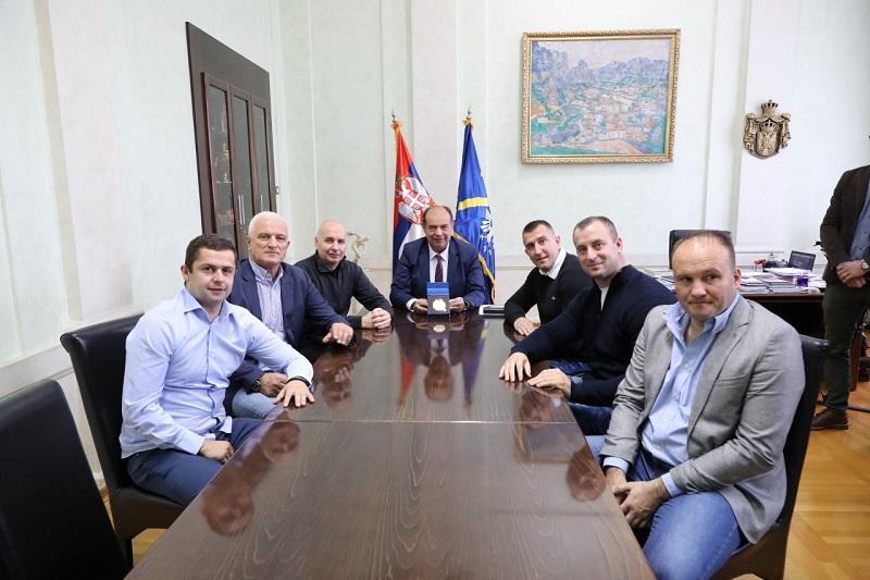 Пријем за бронзаног Небојшу Ђурића и шампиона Микицу Веснића